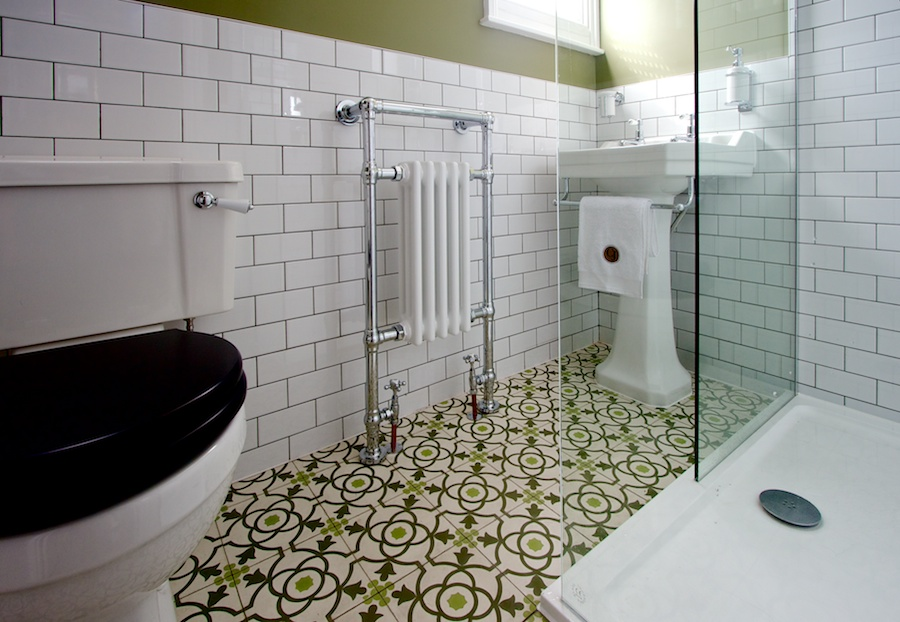 statement floor tiles bathroom