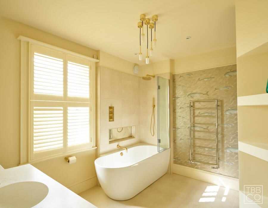 Neutral Colour Contemporary Bathroom